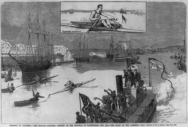 The Third Hanlan Courtney Race, on the Potomac River at Washington, D C   From the Library of Congress