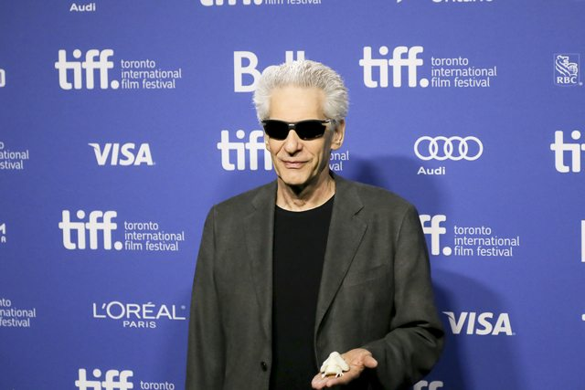 David Cronenberg shows off his new POD, Frisky  Photo by Kayla Rocca