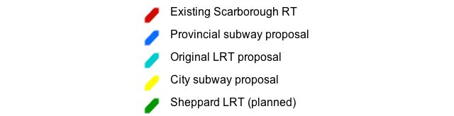 scarborough transit options competing