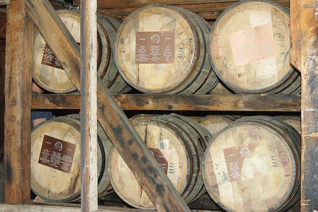 Bourbon aging at the Maker's Mark distillery  Photo by Colbyt69 via Flickr