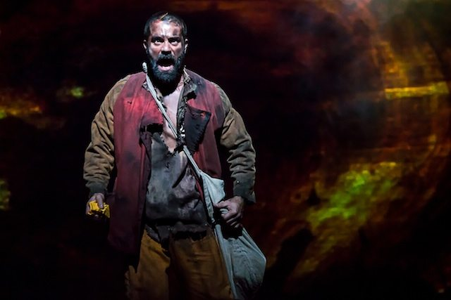Ramin Karimloo will make you weep, or at least want to give him a hug, as Jean Valjean in Les Miserables. Photo by Matthew Murphy.