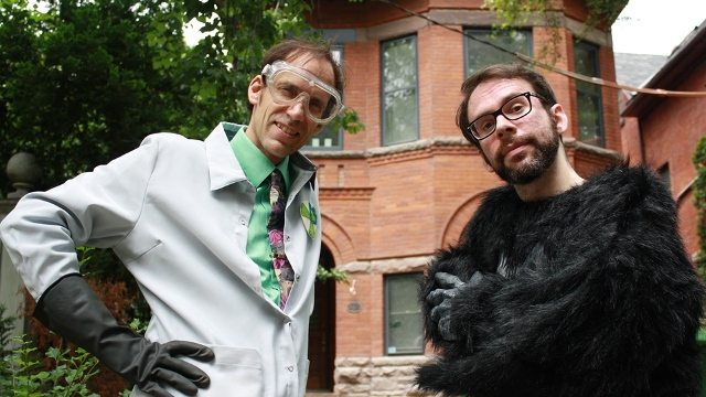 Dr. Nefarious and his henchman, Half-Ape. Photo by Linn Øyen Farley.