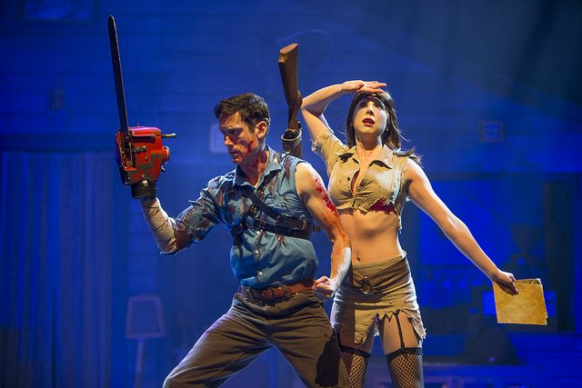 Ryan Ward and Laura Tremblay in Evil Dead The Musical. Photo by David Hou.