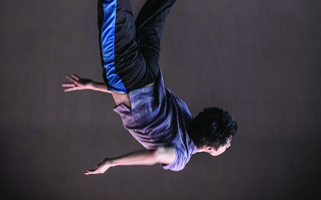 Naishi Wang, one of the dancers featured in Eleven Accords. Photo by Jeremy Mimnagh.