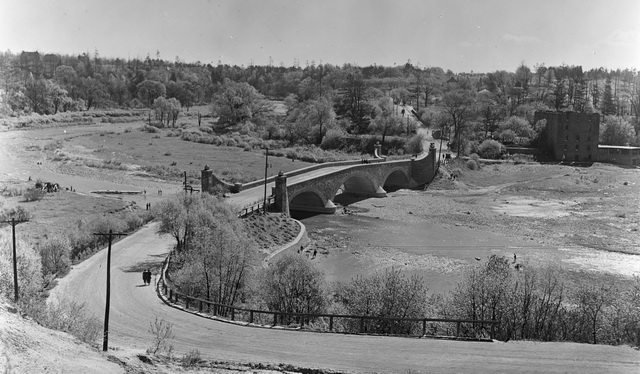 View of Old Mill Road and the Humber River Bridge by Stuart L  Thompson, May 7, 1921  From th