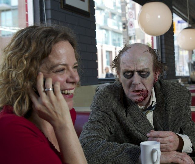 Erica Wood and Bruce Hunter star in the dinner theatre zombie comedy Dine Her  Photo by Carinne Leduc