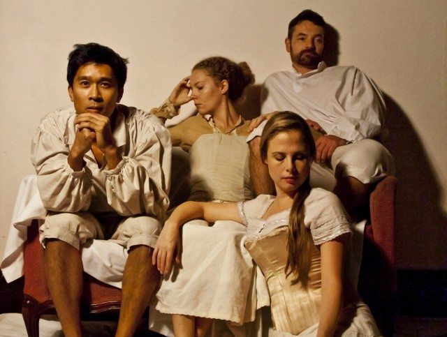 The cast of Litmus Theatre's Birth of Frankenstein  Photo by Justin Cutler