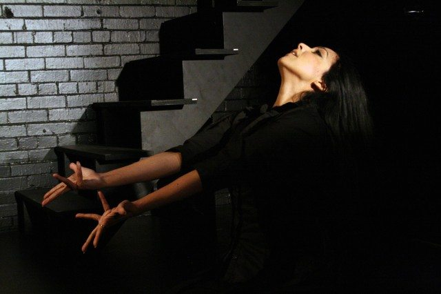 Pamela Sinha in the 2012 production of Crash. Photo by Aviva Armour-Ostroff.