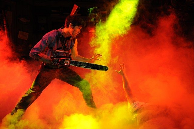 Ryan Ward as Ash in the original production of Evil Dead   The Musical  Photo courtesy of Starvox Entertainment