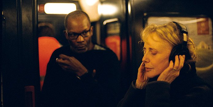 Claire Denis and Alex Descas on the set of 35 rhums.