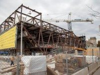 Construction continues on the University of Toronto's Goldring Centre for High Performance Sport. Photo by Jack Landau.