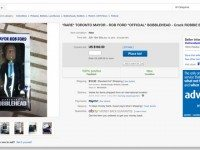 A screenshot of the first Mayor Rob Ford bobblehead eBay listing, as it appeared around 1 p.m.