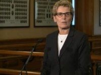 Premier Wynne at this afternoon's press conference.