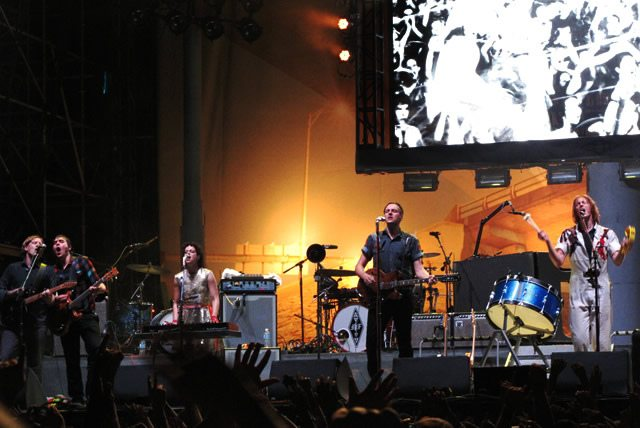 Arcade Fire plays on the Toronto Islands in August 2010  Photo by Kath Fortes, from the Torontoist Flickr Pool