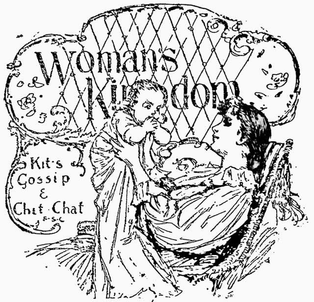 "Logo for ""Woman's Kingdom,"" the Mail, August 19, 1893"
