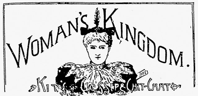 "Logo for ""Woman's Kingdom,"" the Mail and Empire, November 9, 1895"