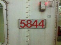 Car 5844's number plate.