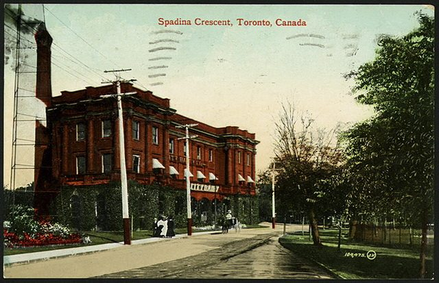 Postcard showing the City Dairy on Spadina Crescent, 1910  From the Toronto Public Library's Digital Collection