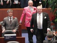 Rob Ford on the day of his first council meeting in December, 2010.
