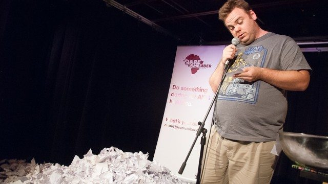 Pat Thornton's 24-hour set annually results in a pile of jokes big enough to jump in.