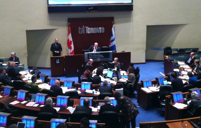 rob ford office budget debate