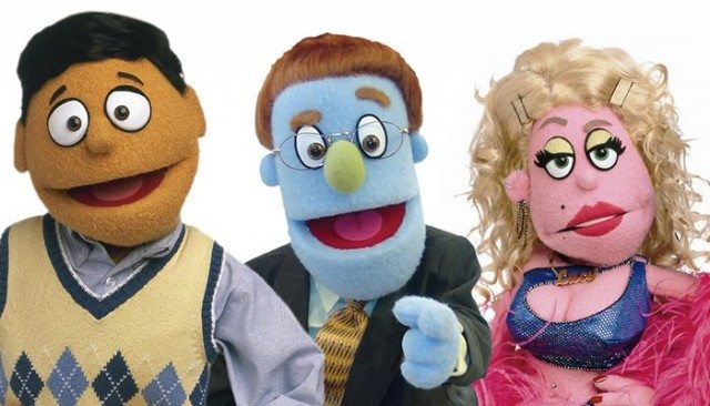 Princeton, Rod, and Lucy the Slut are some of the characters you'll meet on Avenue Q. Image courtesy of Avenue Q.