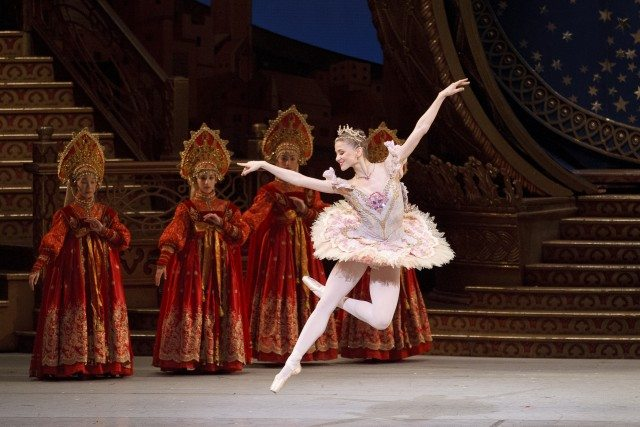 Elena Lobsanova in The Nutcracker. Photo by Bruce Zinger.