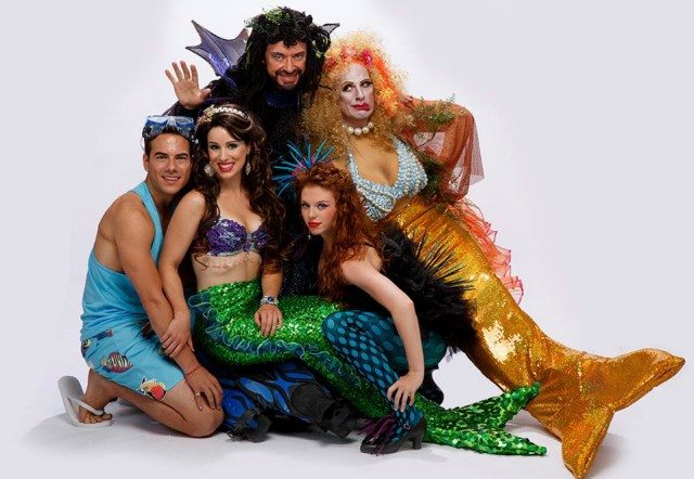 The cast of The Little Mermaid. Image courtesy of Ross Petty Productions.
