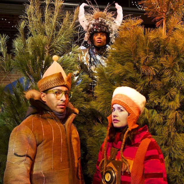 Kawa Ada, Lisa Karen Cox, and Amy Lee in Weather the Weather. Photo by Jacqui Jensen-Roy.