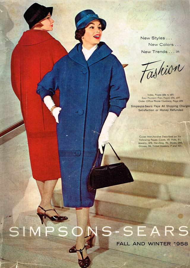 Cover, Simpsons Sears Fall Winter 1958 Catalogue