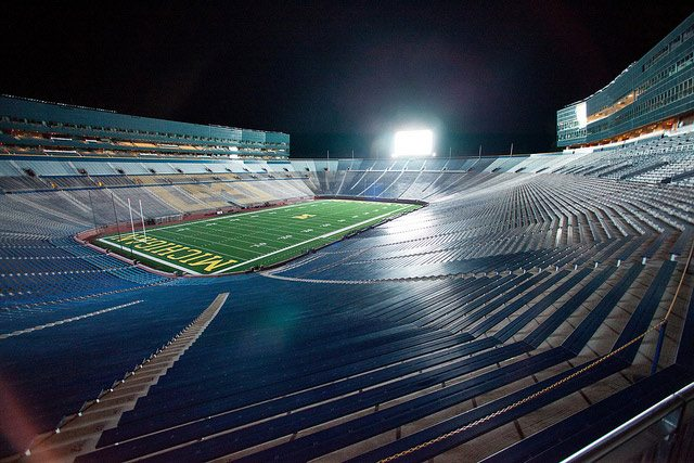 Michigan Stadium  Photo courtesy Gerald R  Ford School of Public Policy, via Creative Commons