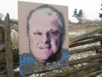 Viktor Mitic's portrait of Mayor Ford.