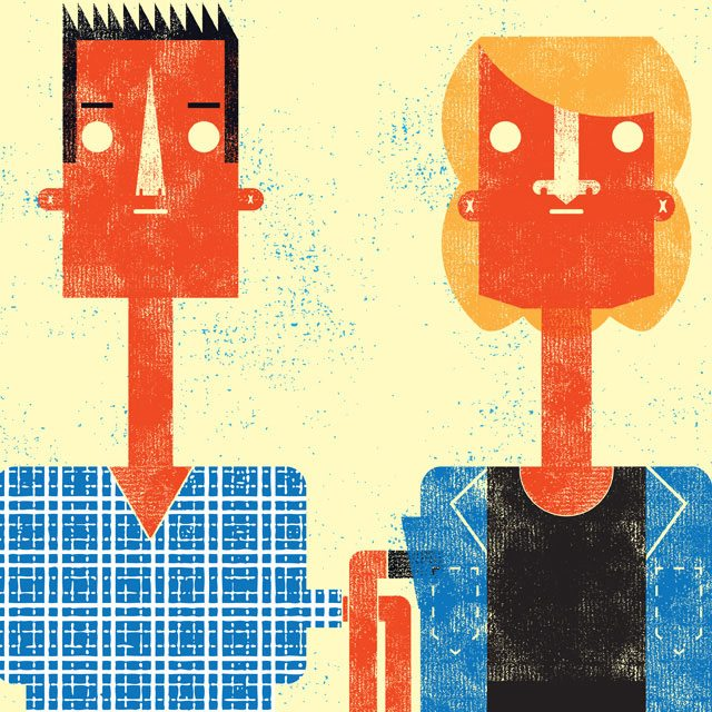Jordan Tannahill and William Ellis of Videofag. Illustration by Matthew Daley/Torontoist.