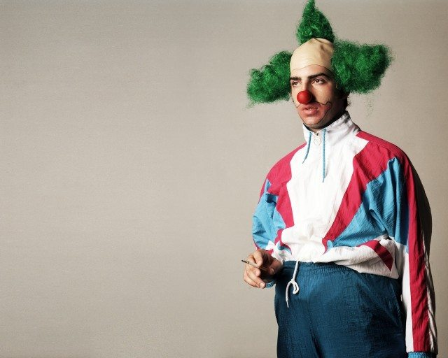 Nick Flanagan as a certain TV clown. Photo by Davida Nemeroff.