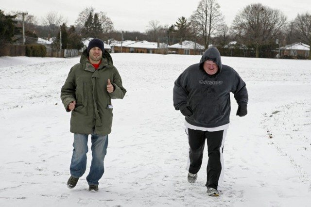 Ben Kaplan, and former running partner, Rob Ford. Photo courtesy of Greystone Books.