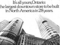 From an advertising supplement promoting the opening of the Eaton Centre, the Toronto Star, February 8, 1977.