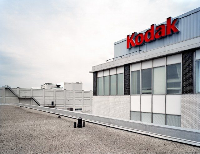View of Building 7 and 11 from the roof of Building 9 at Kodak Canada. Photo by Robert Burley.