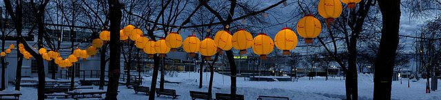 Lanterns are the staple of this Asian culture festival. Image courtesy of LunarFest.