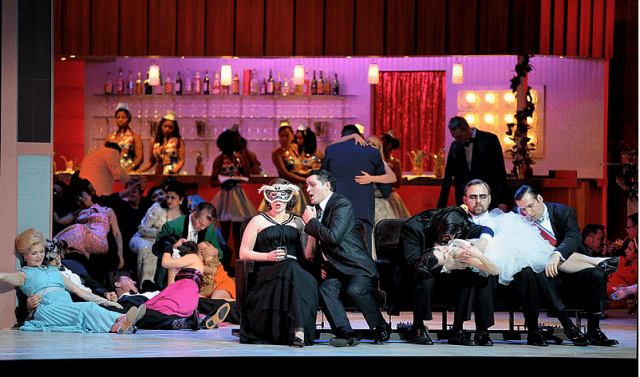 Scene from Un Ballo in Maschera, or A Masked Ball. Image courtesy of the Canadian Opera Company.