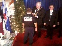 Mayor Ford at New Year's levee, January 1, 2014. Photo by HiMY SYeD, from the Torontoist Flickr pool.
