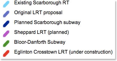 scarborough transit map legend