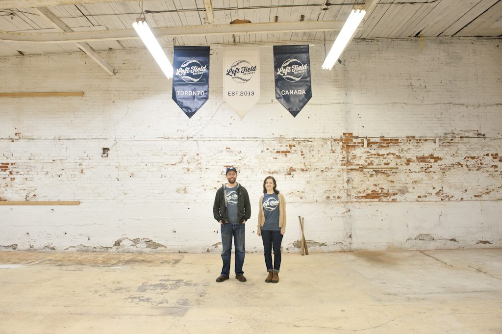 Mark and Mandie Murphy stand on what will soon be the busy production floor of Left Field Brewery.
