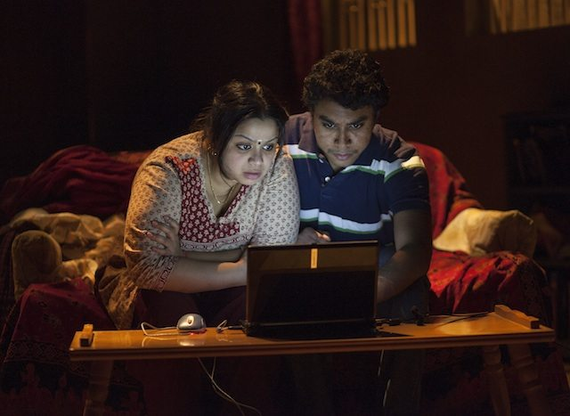 Anusree Roy as Malini and Andrew Lawrie as Sharan. Photo by John Lauener.