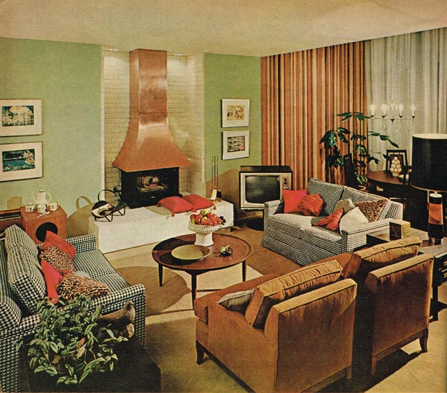 A Clairtone TV on display at Expo '67  Chatelaine Home Planning Book (1967)