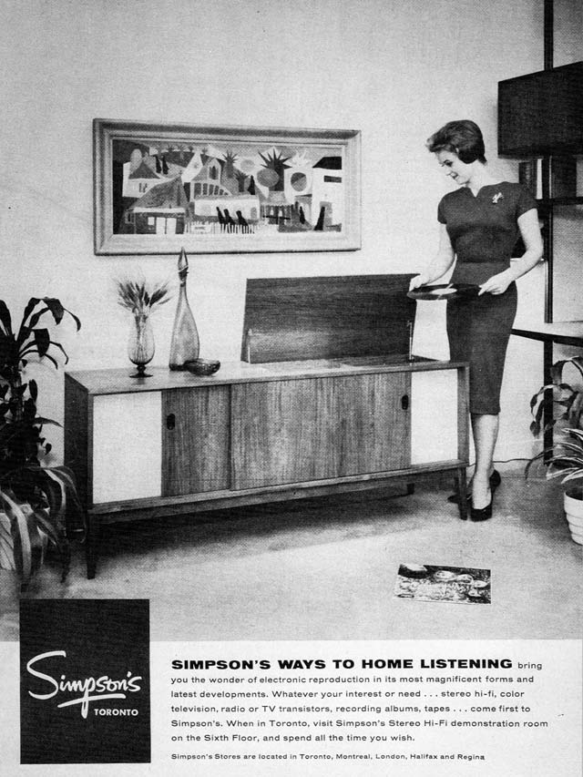 Advertisement, Canadian Homes and Gardens, January 1960