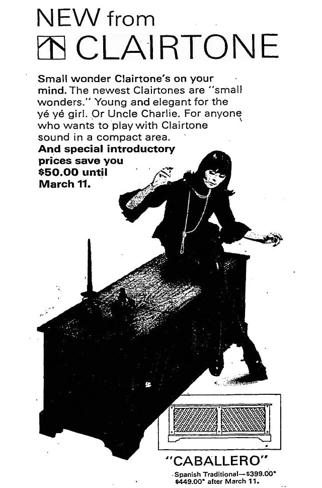 Advertisement, the Globe and Mail, March 1, 1965