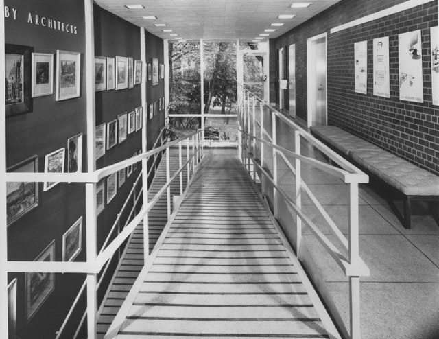 Ontario Association of Architects Headquarters Building, 50 Park Road, Toronto, 1957  From Panda Associates fonds, Canadian Architectural Archives (PAN 57885 2)