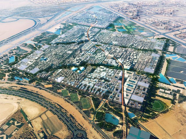 An artist's rendition of the planned eco friendly city of Masdar  Image courtesy of Masdar City