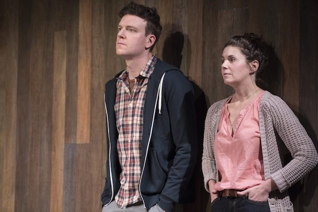 Brendan Gall and Lesley Faulkner in Lungs at Tarragon Theatre. Photo by Cylla von Tiedemann.