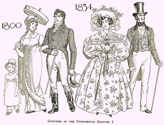 A sense of what the sharp dressed Torontonian may have looked like in 1834  Illustration by C W  Jefferys, Toronto's 100 Years 1834 1934 (Toronto: City of Toronto, 1934)